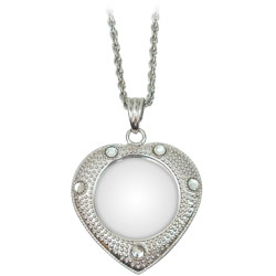 4x Heart Shaped Pendant Magnifier in Silver-Tone Finish Price: $12.95