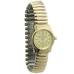 REIZEN Braille Gold Womens Watch with Exp. Band Price: $69.95