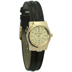 REIZEN Braille Womens Watch (Gold, Leather Band) Price: $69.95