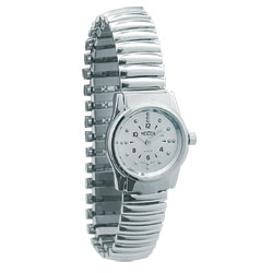 REIZEN Braille Womens Watch (Chrome, Exp. Band) Price: $69.95