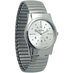 REIZEN Mens Braille Watch (Chrome, Exp. Band) Price: $69.95