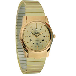 REIZEN Mens Braille Watch (Gold, Exp. Band) Price: $69.95