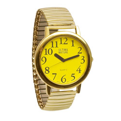 Ultima Mature Low Vision Unisex Watch: Yellow Face Price: $24.95