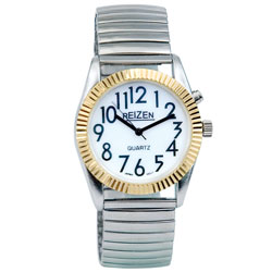 Reizen Mens Glow Low Vision Watch with Blue EL Light Price: $12.95