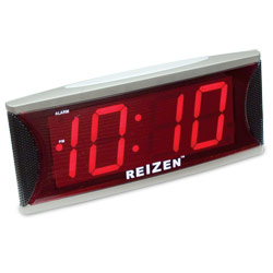 Reizen Jumbo Super Loud Alarm Clock with 2-Inch Red LED Price: $24.75