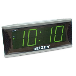 Reizen Super Loud Alarm Clock with 1.8-Inch Green LED Price: $24.75