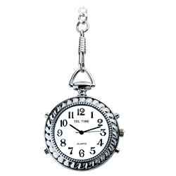 Tel-Time Low Vision Talking Chrome Pocket Watch Price: $35.95