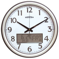 Low Vision Analog-LCD Wall Clock-Calendar-Thermom - click to view larger image