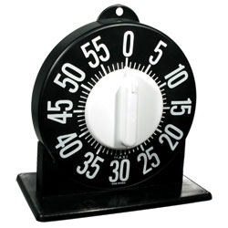 Tactile Short Ring Low Vision Timer With Stand - Black Dial Price: $17.95