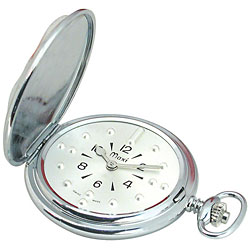 Mens Chrome Quartz Pocket Braille Watch Price: $180.95