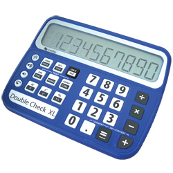 DoubleCheck XL Talking Low Vision Commercial Calculator Price: $129.95