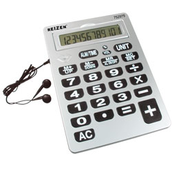 Reizen 12-Digit Jumbo Talking Calculator w/Earbuds Price: $29.95