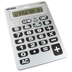 Reizen 12-Digit Jumbo Talking Calculator Price: $19.75