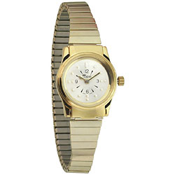 MaxiAids Ladies Gold Tone Quartz Braille Watch with Gold Expansion Band (77039E) at Sears.com
