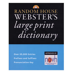 Large Print Random House Websters Dictionary Price: $19.95