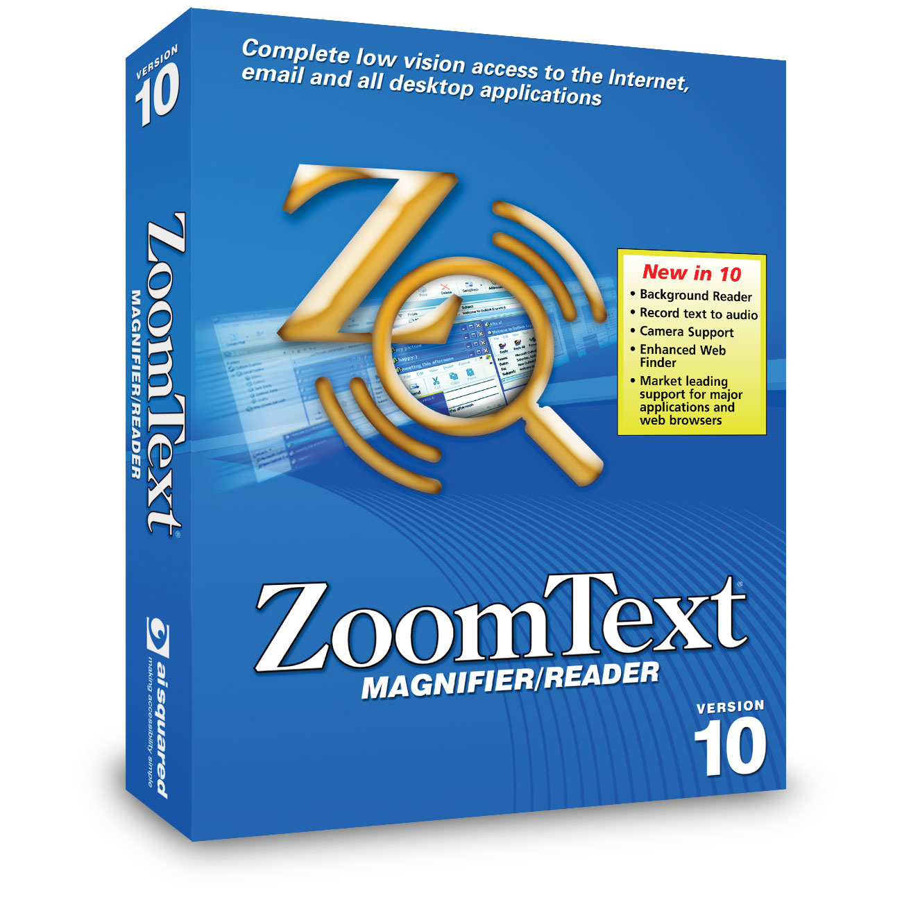 ZoomText 10 Magnifier/Reader Price: $599.00
