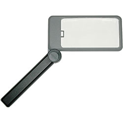 Bausch and Lomb 2X Folding Lighted Magnifier Rectangular 2 inch by 4 inch with Carry Case Price: $14.95