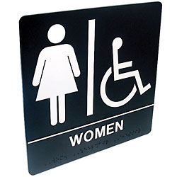 Tactile Braille Signs - Women; Handicap Price: $19.95