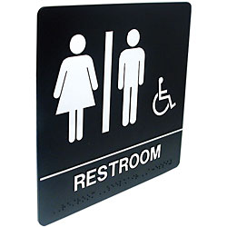 Tactile Braille Signs - Rest Room Price: $19.95