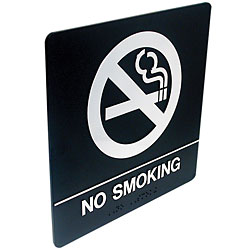 Tactile Braille Signs - No Smoking Price: $19.95