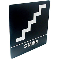 Tactile Braille Signs - Stairs Price: $19.95