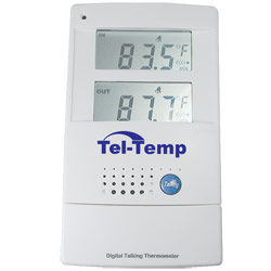 Tel-Temp Talking Indoor/Outdoor Thermometer Price: $18.95