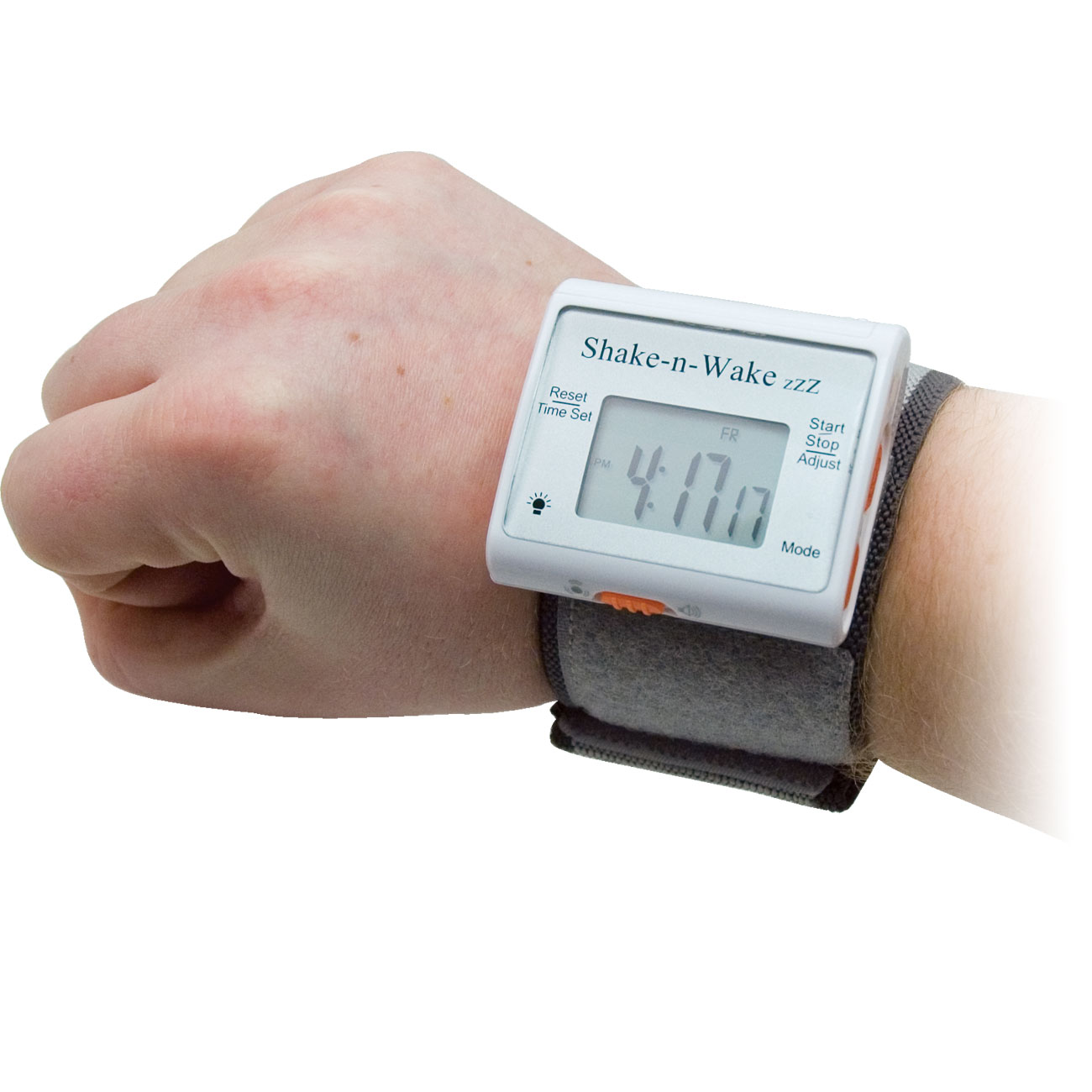 Shake-n-Wake ZZZ Vibrating Alarm Clock Watch