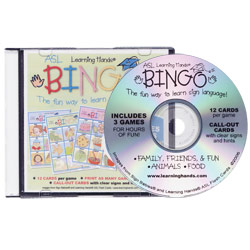 Learning Hands ASL Bingo: CD-Rom Price: $19.99