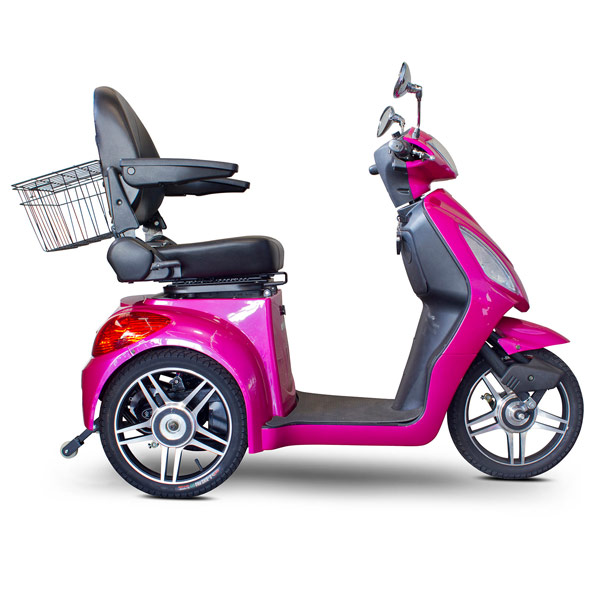 E Wheels Ew 36 3 Wheel Electric Senior Mobility Scooter Pink Motorized Scooters Maxiaids
