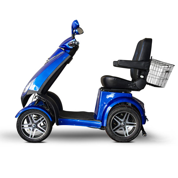 E Wheels Ew 72 4 Wheel Electric Senior Mobility Scooter Blue Motorized Scooters Maxiaids