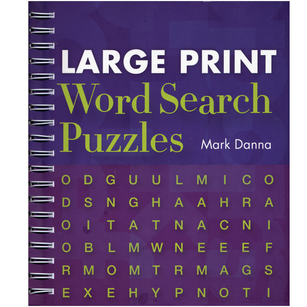 Large Print Word Search Puzzles - Large Print Books - MaxiAids