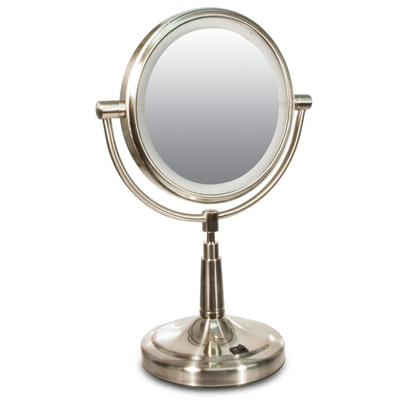 Vanity Mirror With Lights All Round : Zadro LED Lighted 5x-1x Vanity Mirror- Round - Mirrors - MaxiAids
