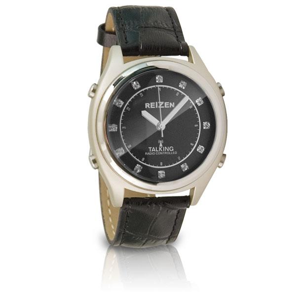 reizen talking atomic watch blk facechipsleath ebay