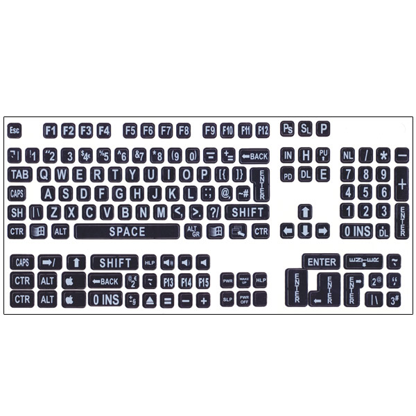 This is a picture of Stupendous Printable Keyboard Stickers