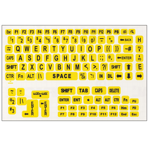 This is an image of Old Fashioned Printable Keyboard Stickers