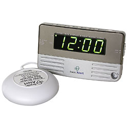 Sonic Alert -Travel Size Bedside Clock with Bed Shaker Price: $38.95