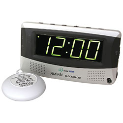 Sonic Alert Alarm Clock with Bed Shaker and Radio Price: $59.70