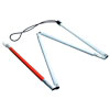 Gripless EZ ID Folding 4-Section Cane - 38 inches