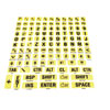 Braille-Large Print Letters Combo -Black on Yellow