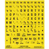 Large Print Overlays Only -Black on Yellow