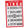 Giant Print BINGO Card- Red