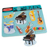 Sound Puzzle w-Braille Pieces- Musical Instruments