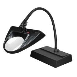 Dazor 30-Inch Hi-Lighting Desk Base Magnifier 5-Diopter 2.25X - Black