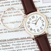Reizen Quartz Analog Watch with 4x Magnifier