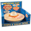 Musical Mexican Hat Chips and Salsa Bowl and Plate Set